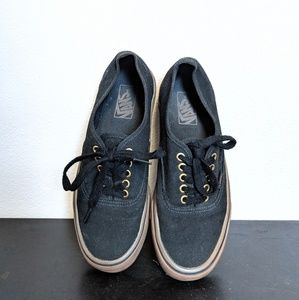 Black and gold Vans mens size 7.5 womens size 9